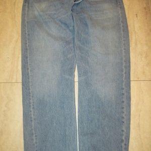MENS LEVI 501 BUTTON FLY REG FIT BLUE JEANS 40 X30